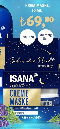 Isana Krem Maske 50 Ml Mikroalg Özü image