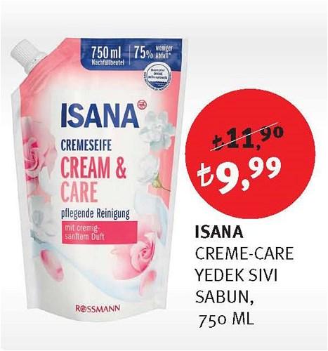 Isana Creme-Care Yedek Sıvı Sabun 750 Ml image