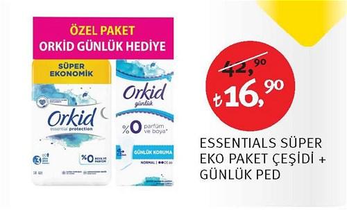 Orkid Essentials Süper Eko Paket Çeşidi + Günlük Ped image