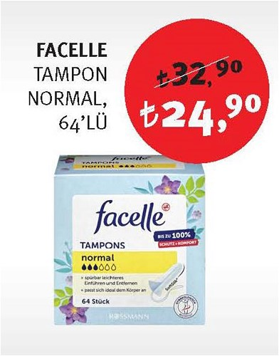 Facelle Tampon Normal 64'lü image