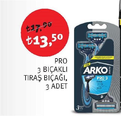Arko Pro 3 Bıçaklı Tıraş Bıçağı 3 Adet image