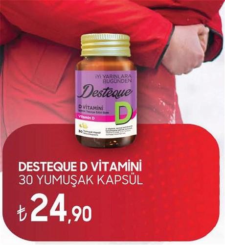 Desteque D Vitamini 30 Yumuşak Kapsül image
