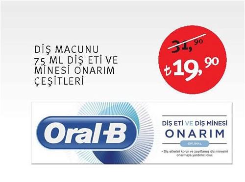 Oral-B Diş Macunu 75 Ml Diş Eti ve Minesi Onarım Çeşitleri image