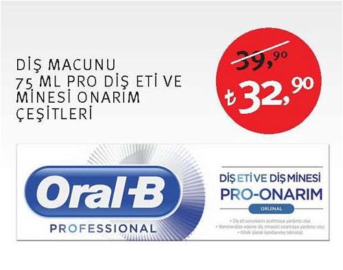 Oral-B Diş Macunu 75 Ml Pro Diş Eti ve Minesi Onarım Çeşitleri image