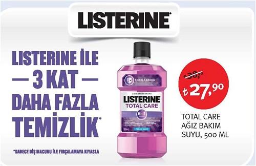 Listerine Total Care Ağız Bakım Suyu 500 ml image