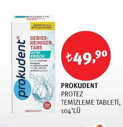 Prokudent Protez Temizleme Tableti 104'lü image