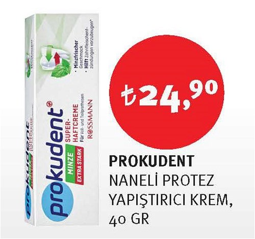 Prokudent Naneli Protez Yapıştırıcı Krem 40 Gr image
