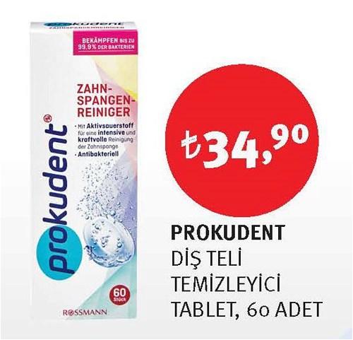 Prokudent Diş Teli Temizleyici Tablet 60 Adet image