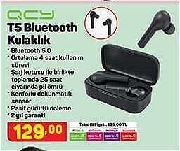 Qcy T5 Bluetooth Kulaklık image