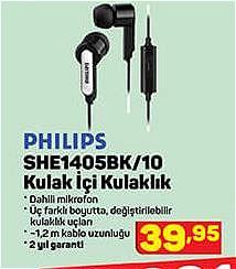 Philips SHE1405BK/10 Kulak İçi Kulaklık image