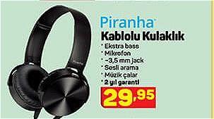 Piranha Kablolu Kulaklık image