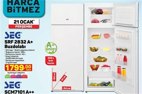 Seg SRF 2832 A+ Buzdolabı image