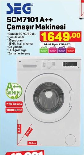 Seg SCM7101 A++ Çamaşır Makinesi image