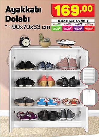 Ayakkabı Dolabı 90x70x33 cm image
