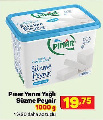 Pınar Yarım Yağlı Süzme Peynir 1000 g image