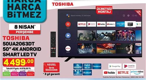 "Toshiba 50UA2063DT 50"" 4K Android Smart Led Tv image"