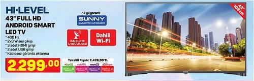 "Hi-Level 43"" 109 cm Full HD Android Smart Led Tv image"