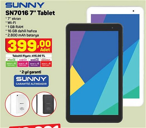 """Sunny SN7016 16 GB 7"""" Tablet image"""