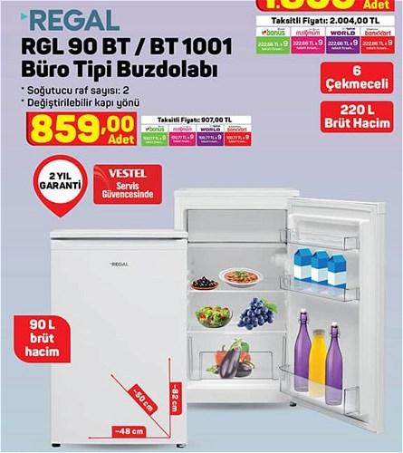 Regal RGL 90 BT/BT 1001 Büro Buzdolabı image