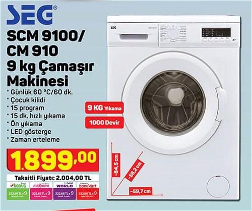 Seg SCM 9100/CM 910 9 Kg Çamaşır Makinesi image