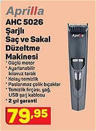 Aprilla AHC 5026 Şarjlı Saç ve Sakal Düzeltme Makinesi image