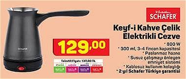 Schafer Keyf-i Kahve Çelik Elektrikli Cezve 800 W image