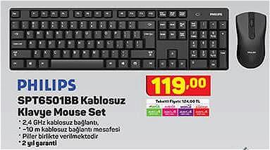 Philips SPT6501BB Kablosuz Klavye Mouse Set image