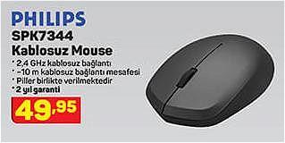 Philips SPK7344 Kablosuz Mouse image