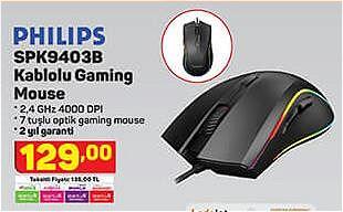 Philips SPK9403B Kablolu Gaming Mouse image