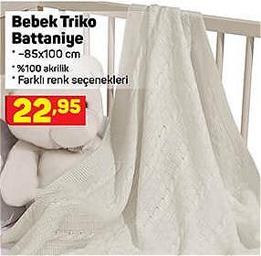 Bebek Triko Battaniye 85x100 cm image