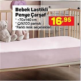 Bebek Lastikli Penye Çarşaf 70x140 cm image