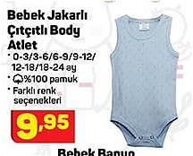 Bebek Jakarlı Çıtçıtlı Body Atlet image