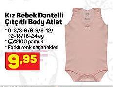 Kız Bebek Dantelli Çıtçıtlı Body Atlet image