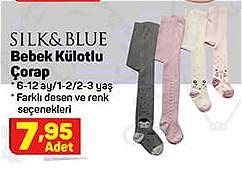Silk&Blue Bebek Külotlu Çorap image