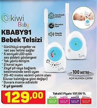 Kiwi KBABY91 Bebek Telsizi image