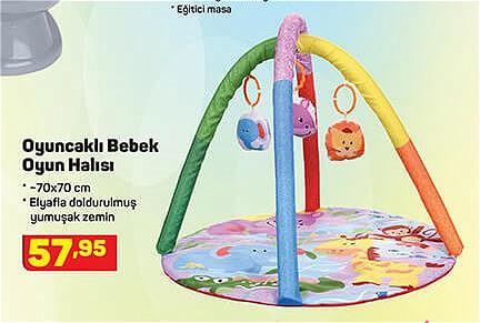 Oyuncaklı Bebek Oyun Halısı 70x70 cm image