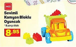 Mgs Oyuncak Sevimli Kamyon Bloklu Oyuncak 8 Parça image
