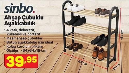 Sinbo Ahşap Çubuklu Ayakkabılık image