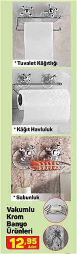 Vakumlu Krom Banyo Ürünleri image