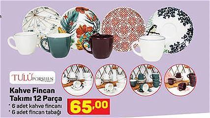 Tulu Porselen Kahve Fincan Takımı 12 Parça image