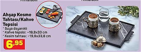 Ahşap Kesme Tahtası/Kahve Tepsisi image