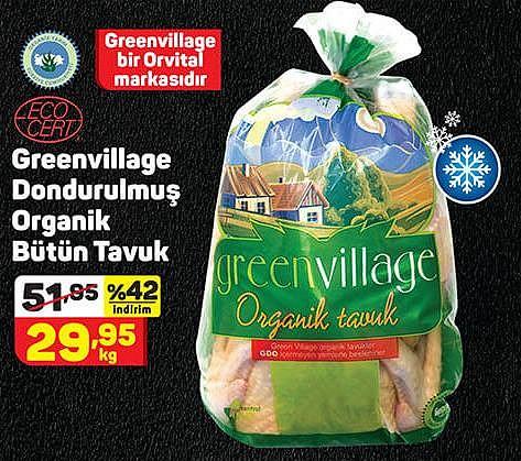 Orvital Greenvillage Dondurulmuş Organik Bütün Tavuk Kg image