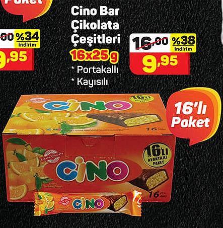 Cino Bar Çikolata Çeşitleri 16x25 g image