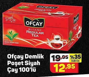 Ofçay Demlik Poşet Siyah Çay 100'lü image