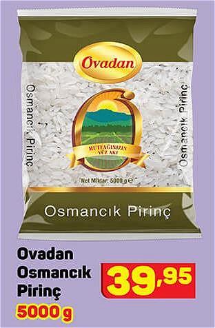 Ovadan Osmancık Pirinç 5000 g image