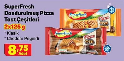SuperFresh Dondurulmuş Pizza Tost Çeşitleri 2x125 g image