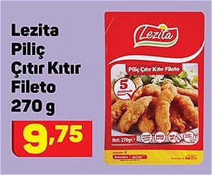 Lezita Piliç Çıtır Kıtır Fileto 270 g image