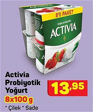 Activia Probiyotik Yoğurt 8x100 g image