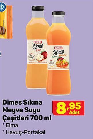 Dimes Sıkma Meyve Suyu Çeşitleri 700 ml image