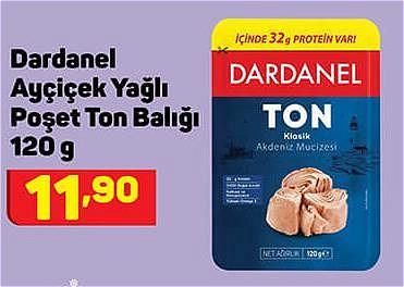 Dardanel Ayçiçek Yağlı Poşet Ton Balığı 120 g image